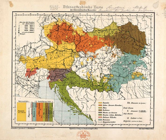 Map Of Germany Late 1800s.Peoples And Languages Of The Austrian Empire In 19th Century