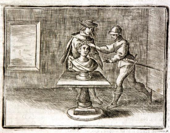 Quixote Bronze head 1730