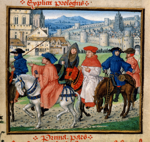 Pilgrims-leaving-canterbury-lydgate-royal18dii