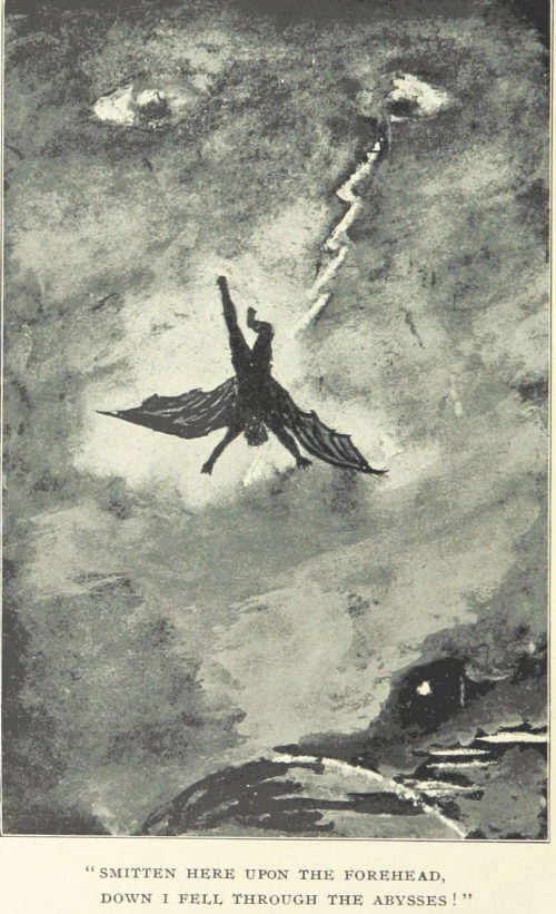 Image of a winged figure falling