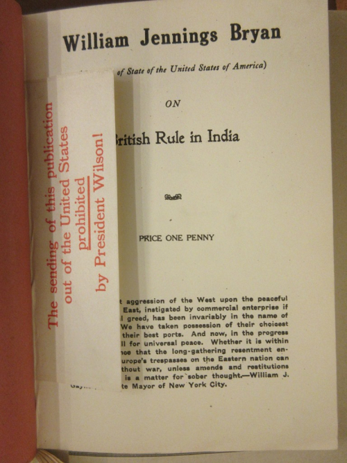 Title page of a republished English edition of Bryan's British Rule in India