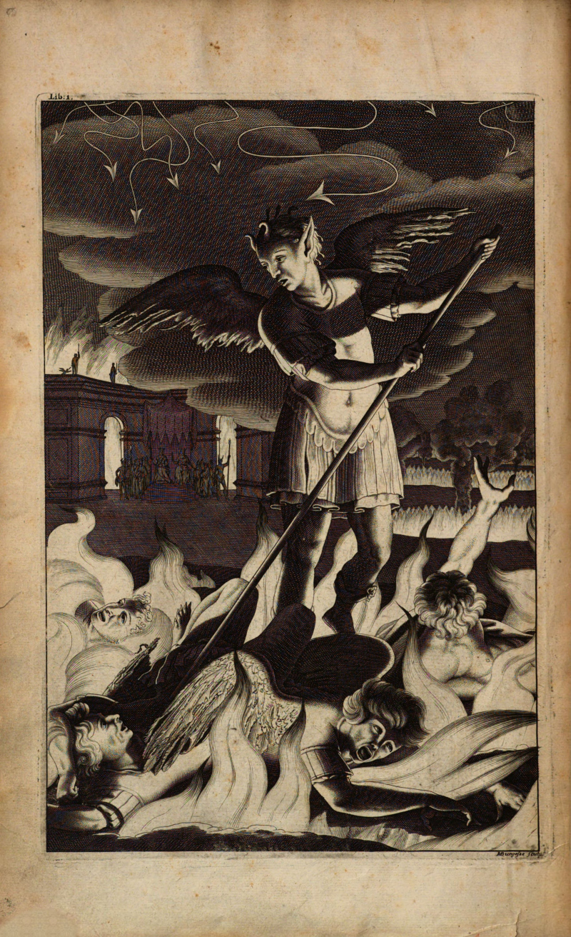 Satan  first illustrated edition of Paradise Lost