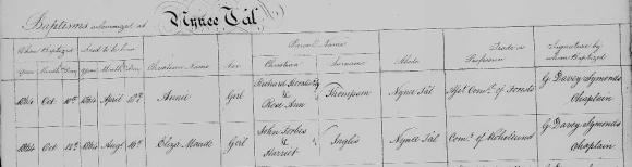 Inglis  Eliza Maude baptism
