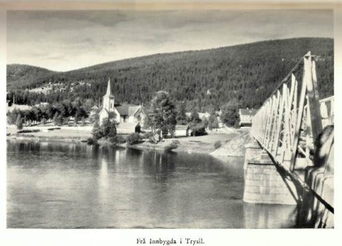 Black-and-white photograph of Trysil