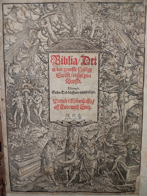 Danish Bible title page
