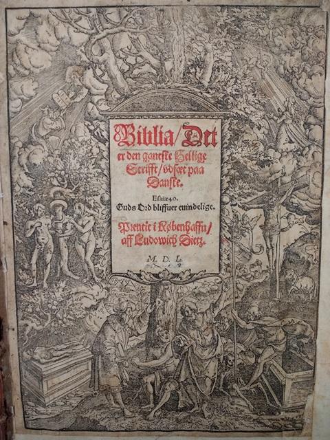 Danish Bible title page