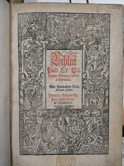 Icelandic Bible title page