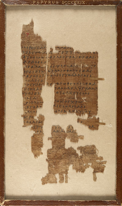 A 3rd-century papyrus containing a fragment of a poem by Sappho.