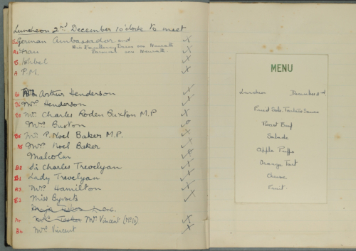 Luncheon 2nd December 1930