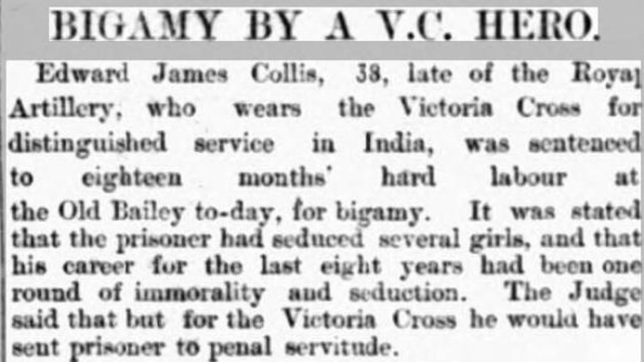 Collis Evening Star 26 Nov 1895