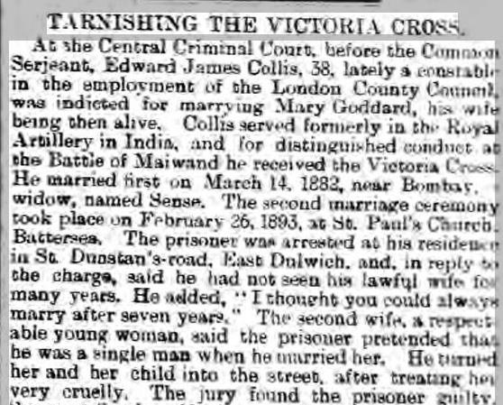 Collis Worcester Journal 30 Nov 1895