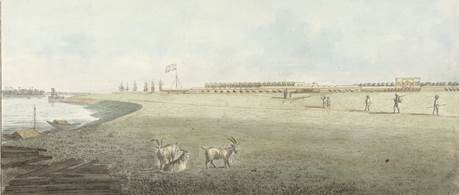 South west view of Fort William in Calcutta