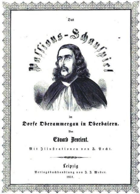Cover of 'Das Passionsschauspiel in Oberammergau' with a picture of the actor playing Jesus