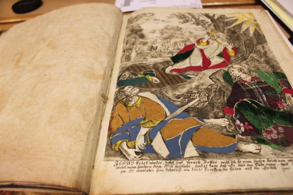 Rare books textile