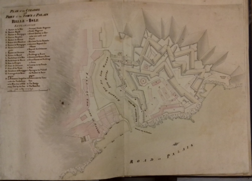 Plan of the Citadel and Part of the Town of Palais Belle-Isle