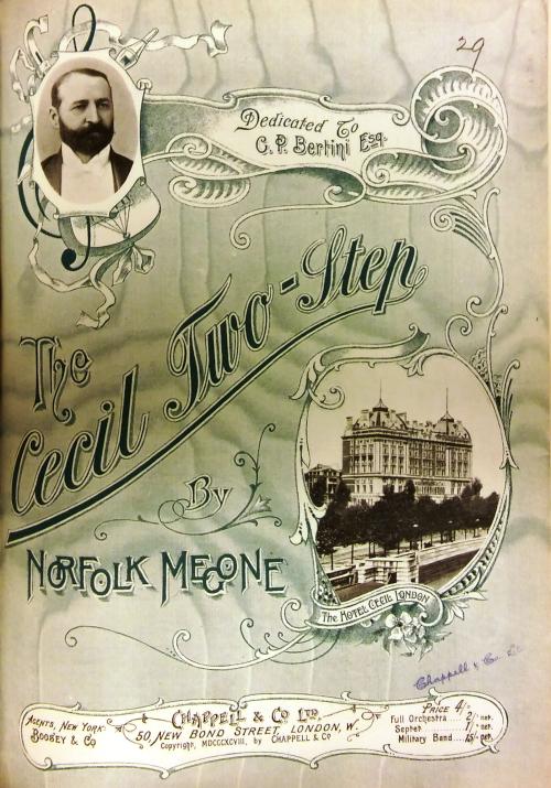 Sheet music title page