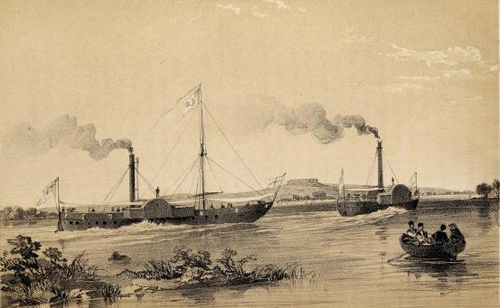 Steamers Euphrates and Tigris passing Thapsacus
