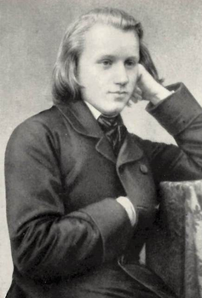 Johannes Brahms as a young man