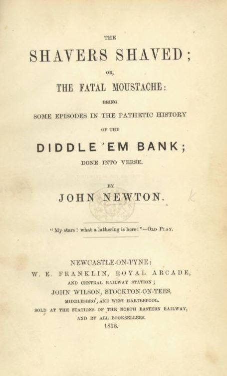 Title page of The Shavers Shaved or The Fatal Moustache