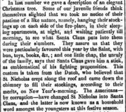 First mention of Santa Claus in the British Newspaper Archive