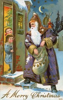 Santa Claus in mauve
