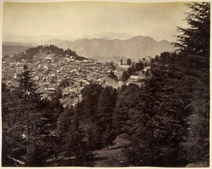 'A view of Simla, Himachal Pradesh, northern India'
