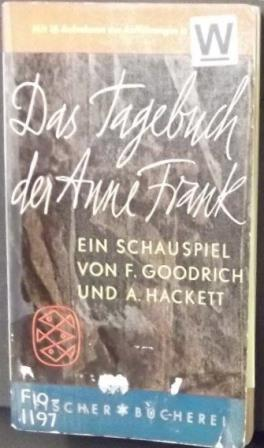 Cover of a German translation of the dramatisation of Anne Frank's Diary