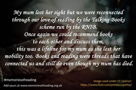 Talking Books scheme run by R.N.I.B.