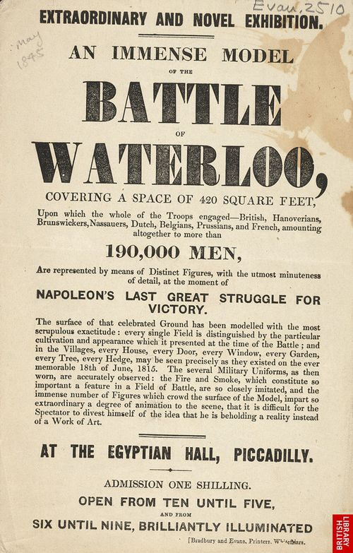 Poster for Waterloo exhibition 1845