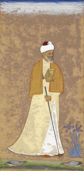 A Mullah. Bijapur, c. 1610. British Library, J.25, 14.