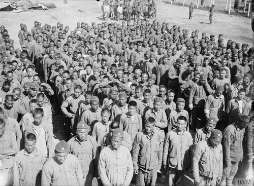 Chinese labourers at Boulogne, 12 August 1917