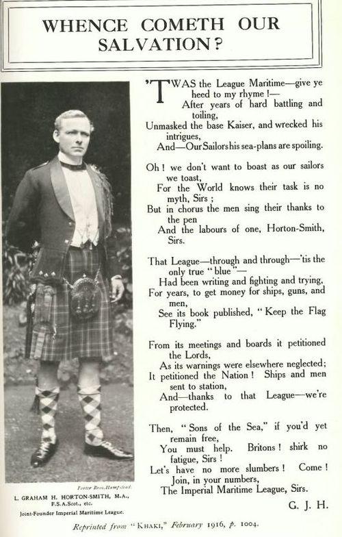 Imperial Maritime League pamphlet