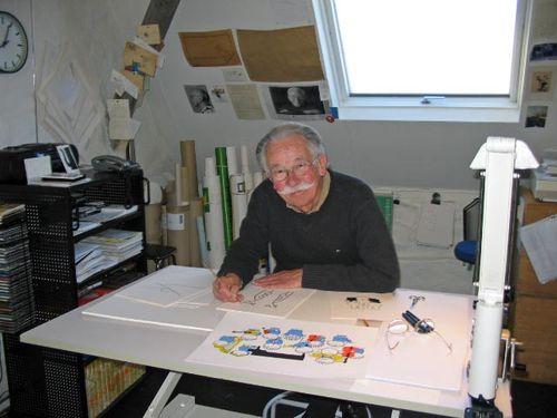 Dick Bruna working in his studio