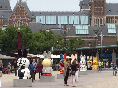 Decorated Miffy sculptures in Amsterdam