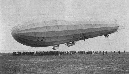 The German Zeppelin LZ 18 (L 2) at Berlin-Johannistal