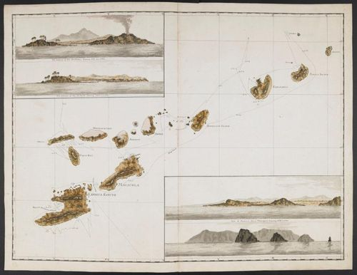 A plan of Vanuatu with 4 views