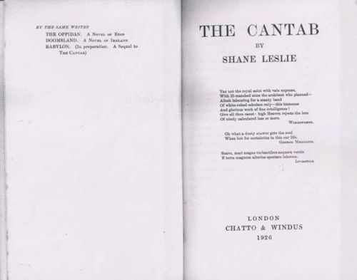 Title-page of Shane Leslie's 'The Cantab'