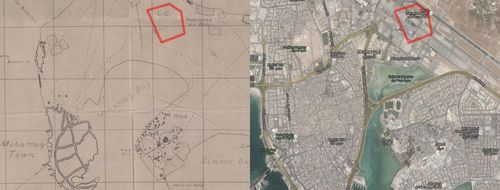 Manama maps 1934 and 2015