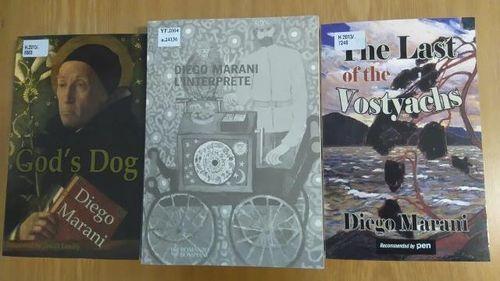 Covers of three of Marani's novels
