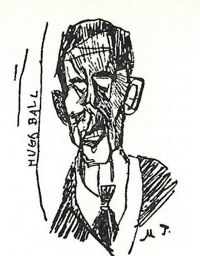 Abstract portrait of Hugo Ball by Marcel Janco