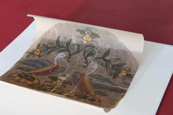 Silk cover before conservation
