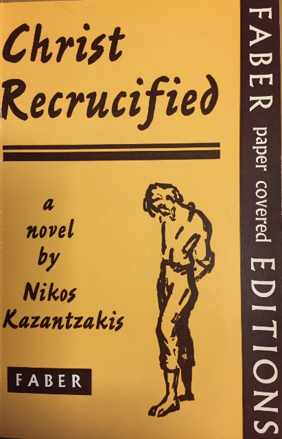 Cover of 'Christ Recrucified' with a drawing of a bearded man with his head bowed
