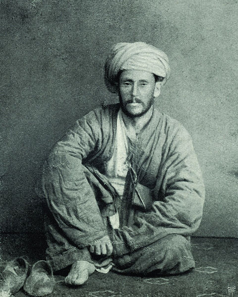 Photograph of Ármin Vámbéry dressed as a Dervish