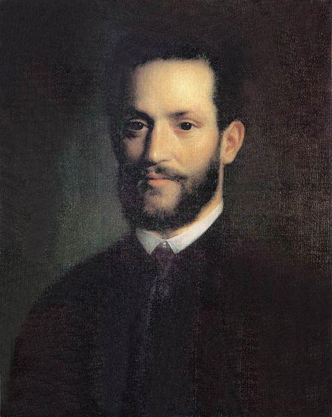 Painting if Ármin Vámbéry in western dress