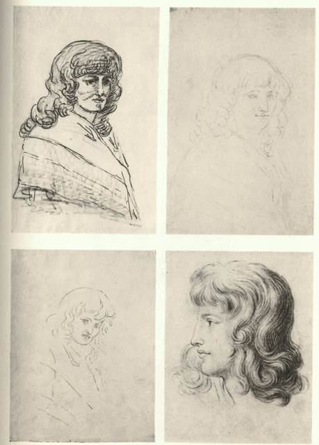 Four sketches of Christiane Vulpius