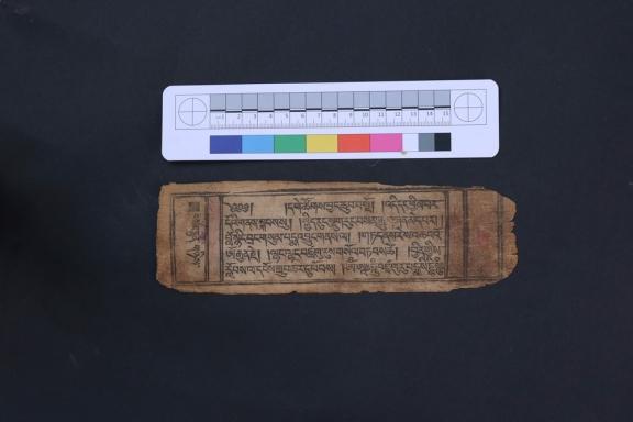Manuscript page in Tibetan.