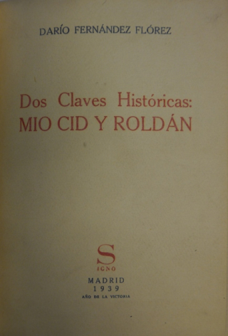 Title-page of 'Dos claves históricas'