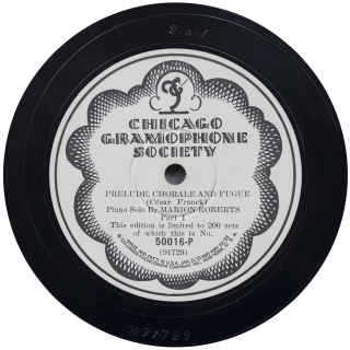Chicago Gramophone Society 50016-P [W 91729] label [NM, cropped]