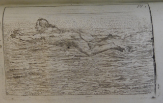 A swimmer doing a form of breaststroke