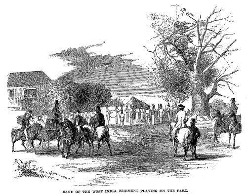 Cast-away_in_Jamaica_-_Band_of_the_West_India_Regiment_Playing_on_the_Park